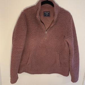 Abercrombie & Fitch sherpa fleece pullover